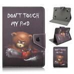 Samsung 10.1 Inch tablet map hoes cover Do Not Touch Bear...