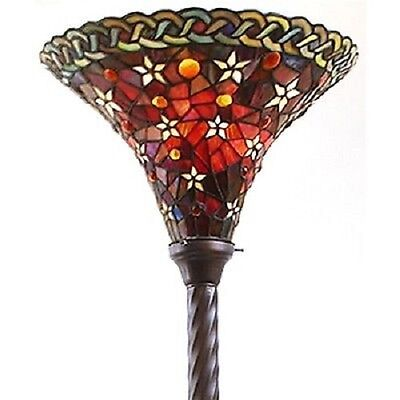 Red Torchiere Floor Lamp Style Living Room Reading Mission Victorian Vintage S