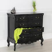 Black French Chest of Drawers