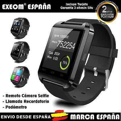 Reloj Inteligente SmartWatch U 8 iPhone Android Bluetooth Negro - Marca España
