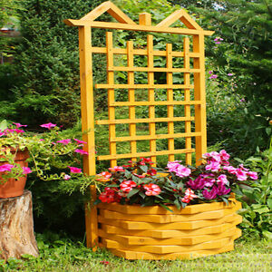 rankgitter artikelbild pergola mit blumenkasten pflanzkasten holz 152x62x62 ebay. Black Bedroom Furniture Sets. Home Design Ideas