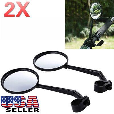 2x Flexible Bike Bicycle Handlebar Glass Rear View Cycling Cycle Rearview Mirror