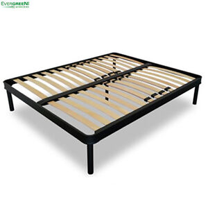 Fixed slatted reinforced bed base oversize double 4ft4 x for 90 x 200 divan base