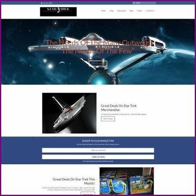 Star Trek Website Business For Sale Dropshipping Working From Home Domain