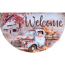 New Fall Primitive AUTUMN WELCOME VINTAGE BARN TRUCK FLOOR ...
