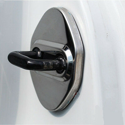 Rust Steel Door - Stainless steel Car Door Stop Rust protector cover 4pcs For Toyota Camry 12-2016