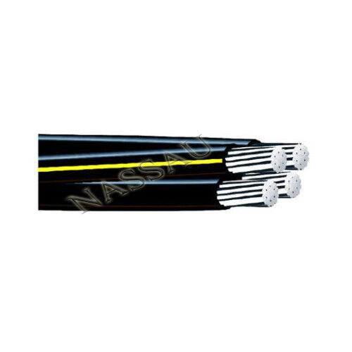 Per Foot Tulsa 4-4-4-4 Quadruplex Aluminum Urd Wire Direct Burial Cable 600v