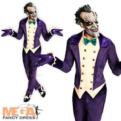 Deluxe The Joker Halloween Mens Batman Fancy Dress Adult Costume Outfit + Mask - The Joker Halloween Outfit