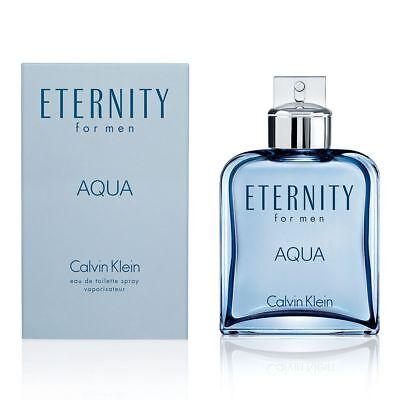 Eternity Aqua Cologne Perfume by Calvin Klein 1.0 oz 30 ml EDT Spray Men New Eternity Mens Edt Perfume