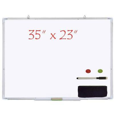 35x23 Magnetic Writing Whiteboard Dry Erase Board Weraser Office Single Side