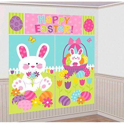 Easter Bunny & Egg Hunt Scene Setters Wall Decorating Kit - Easter Scene Setters