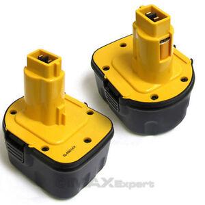 2-x-3-0AH-12V-12-VOLT-BATTERY-FOR-DEWALT-DW9071-DW9072