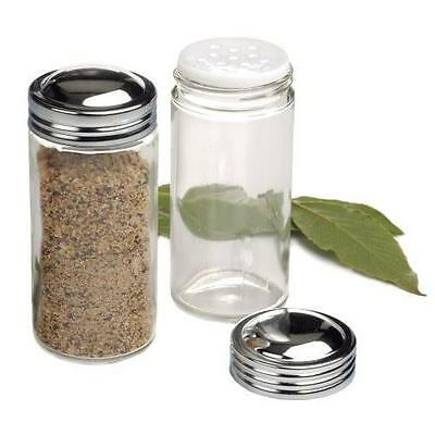 RSVP Clear Glass Spice Jar, Set of ...