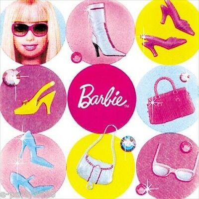 BARBIE All Doll'd Up SMALL NAPKINS (16) ~ Birthday Party Supplies Cake Dessert](Barbie Napkins)