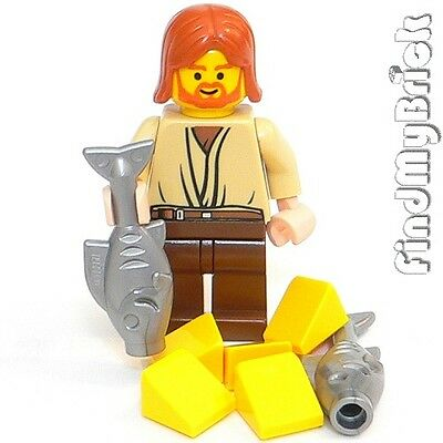 M011A Lego Jesus 5 loaves of bread 2 fishes Minifigure Christmas God Bible NEW