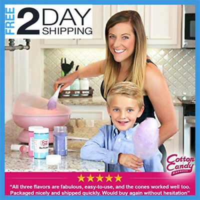 Cotton Candy Express Fun Pack Kit Floss Cherry Features Raspberry Grape Sugar