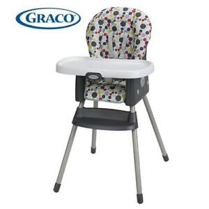 NEW GRACO SIMPLESWITCH HIGH CHAIR 2013810 233298990 ETCHER 2 IN 1 HIGHCHAIR BOOSTER SEAT
