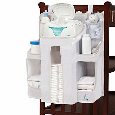 hiccapop Nursery Organizer and Baby Diaper Caddy | Hanging Diaper Organizatio...