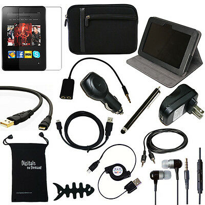 14-ITEM ACCESSORY BUNDLE FOR NEW AMAZON KINDLE FIRE HD 8.9 COVER CASE CHARGER on Rummage
