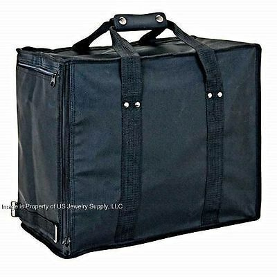 1 Premium Soft Side Jewelry Travel Carrying Case For Standard Size Trays