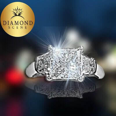 GIA CERTIFIED PRINCESS 2.36 CT G COLOR VVS2  W2.36CT D72.2% T81% GIRDLESL. THICK