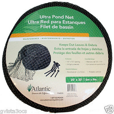 Atlantic Water Gardens 20'x30' Ultra Net/netting, Pn2030 ...