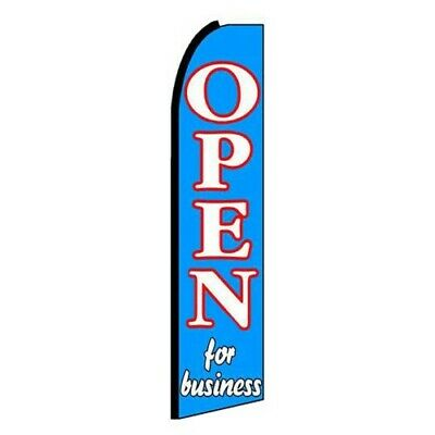 Open For Business Banner Flag Only 3 Wide Advertising Swooper Flutter Feather
