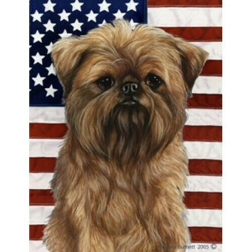 Patriotic (D2) House Flag - Brussels Griffon 32128