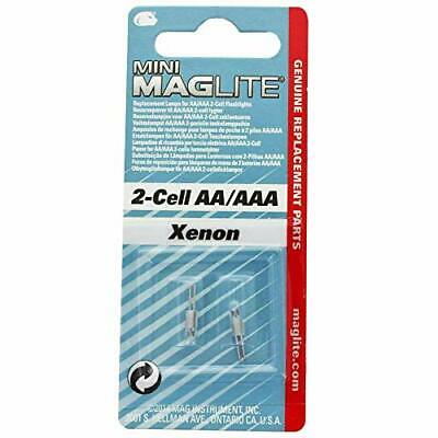 Maglite Replacement Lamps for 2-Cell AA Mini Flashlight 2-Pack