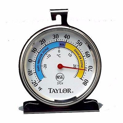 Taylor 5924 Exemplar Stainless Steel Freezer Refrigerator Thermometer