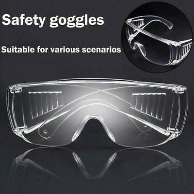 20 Clear Vented Safety Goggles Glasses For Work Lab Outdoor Eye Protection