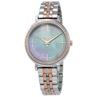 Michael Kors Women's MK3642 Cinthia Two Tone Blue Mother of Pearl Dial Watch