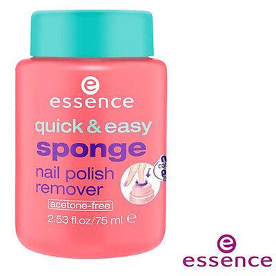 Acetone Free Polish Remover - [ESSENCE] Quick & Easy Acetone Free Sponge In Nail Polish Remover 75ml NEW
