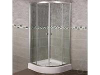 Brand New 900mm x 900mm Quadrant Shower Enclosure + Tray Bathroom Fittings