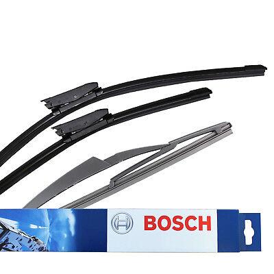 """Fits Citroen C3 Hatch Bosch Superplus Spoiler 24//18/"""" Front Wiper Blades Pair Set"""