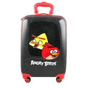 New Angry Birds Polycarbonate Hard Shell Luggage Case 4 Wheel Of
