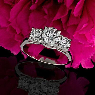 1 CT D/VS2 ROUND CUT DIAMOND SOLITAIRE ENGAGEMENT RING 14k WHITE GOLD ENHANCED