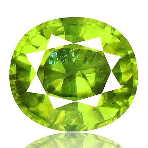 Tsavorite Family Garnet 3.76ct yellowish green color 100% natural earth mined