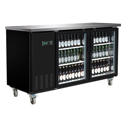 Central Exclusive 69k-107 Glass Door Back Bar Cooler 2 Doors