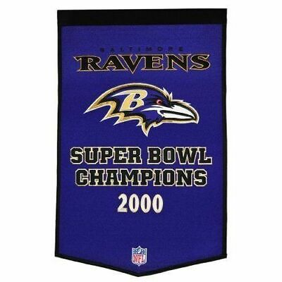 Baltimore Ravens NFL Premium Embroidered Wool Dynasty SB 2' x 3'  Banner NEW
