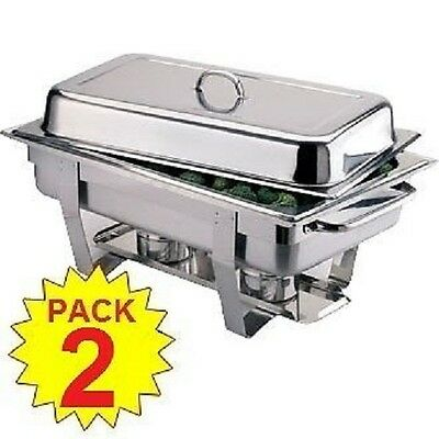 BEST EBAY PRICE PACK OF 2 OMEGA CHAFING DISH SETS ***FREE NEXT DAY DELIVERY***