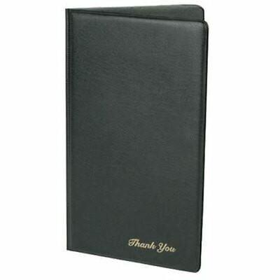 Folding Black Restaurant Guest Check Bill Receipt Credit Card Presentation Cover
