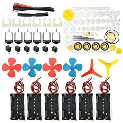 6 Set Dc Motor Small Mini Electric Motors Hobby Diy 1.5v To 3v Batteries 2400