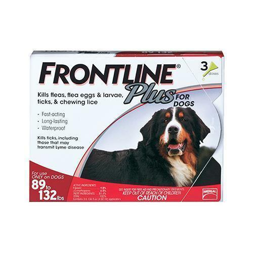 Купить FRONTLINE FRTP-XL - NEW Frontline Plus Flea And Tick Control For Dogs  89-132 Lbs - 3 Mo Supply