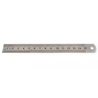 Stainless Steel Measuring Ruler Rule Scale Machinist Tools 15cm Ad