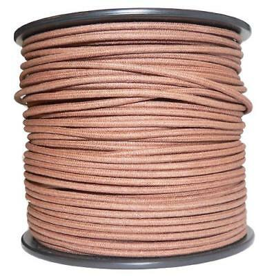 1M Algodón Trenzado Eléctrico Del Automóvil Cable 18 Calibre Marrón