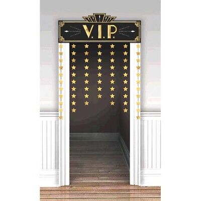HOLLYWOOD Glitz and Glam DELUXE DOOR CURTAIN ~ Birthday Party Supplies - Hollywood Supplies
