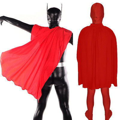 Red Cloak Adult Cape Zentai Masquerade Superhero Halloween Costume Fancy Dress