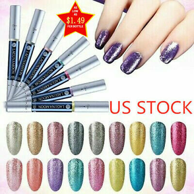 Lagunamoon Platinum Color-changing Neon Nail Gel Polish Pen Manicure Lacquer Neon Gel Pen