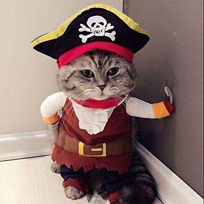 Costume da pirata, per cane e gatto, con cappello (m3K)